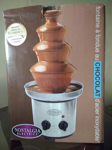 fuente de chocolate nostalgia 4 niveles