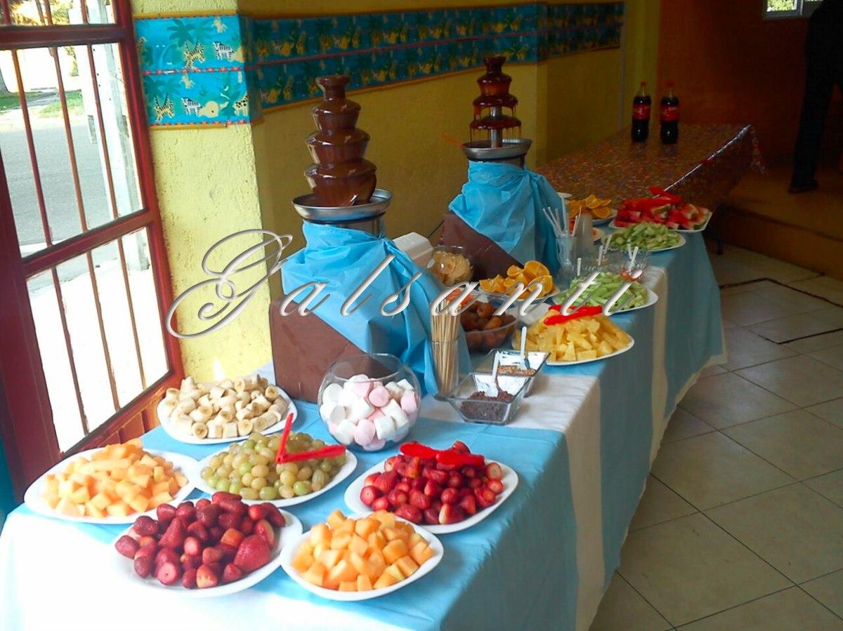 Fuente De Chocolate Y Fuente De Chamoy Juntas