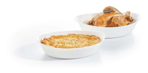 fuente de horno 32x20cm luminarc, smart cuisine ovalada