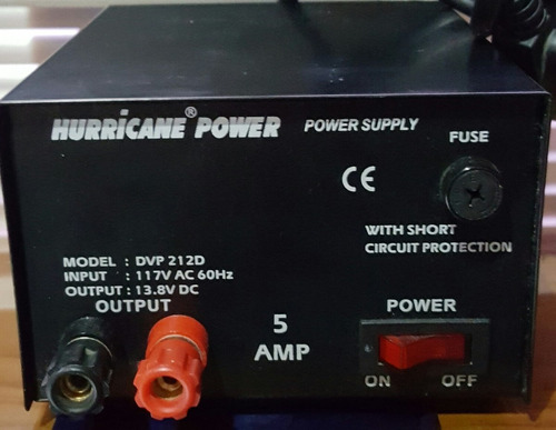 fuente de poder 12 volt 5 amp. hurricane power original