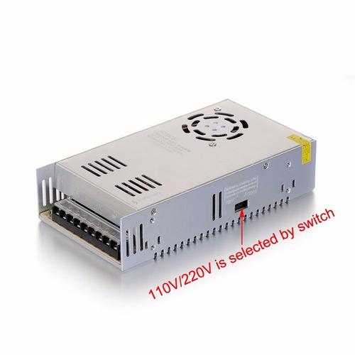 fuente de poder 12v 30a 360w cintas led cámaras switching