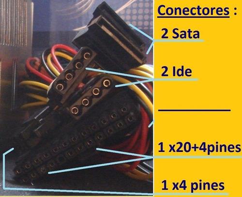 fuente de poder 600w y cable / f5 si no ve descripcion az-pc