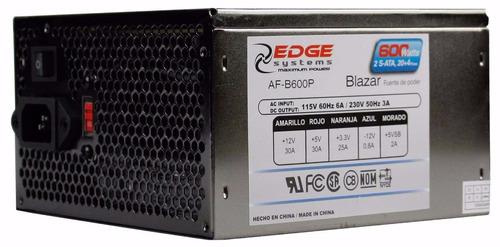 fuente de poder acteck 600w blazar, 120 mm