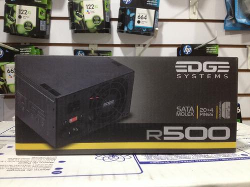 fuente de poder acteck edge system r500 watts es-05001 p/pc