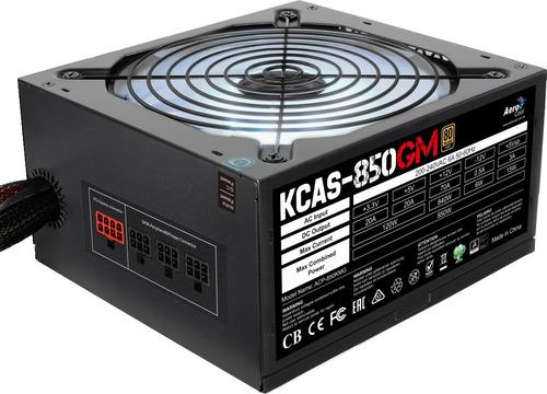 fuente de poder aerocool kcas 850w 80+ gold, rgb, atx