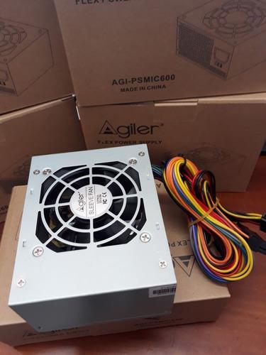 fuente de poder agiler 600w slim mini atx para case pequeños