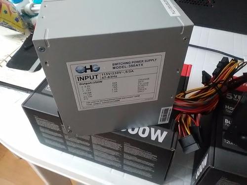 fuente de poder atx- 350 watts 20-24 pines para computador