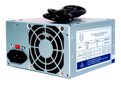 fuente de poder atx 500w 20/24 pines conector sata garantía