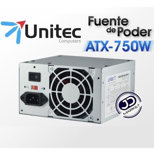 fuente de poder atx-750 watts 20-24 pines para computador
