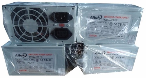 fuente de poder atx 750w conector sata / ide nueva 24+5pi