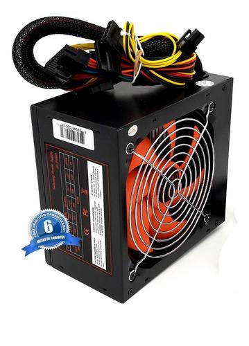 fuente de poder atx 750w ventilador grande 12cm
