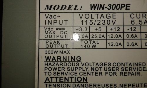 fuente de poder atx  con un sata para pc 300w
