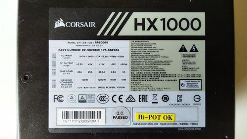 fuente de poder corsair de 1000w platinum sin cables