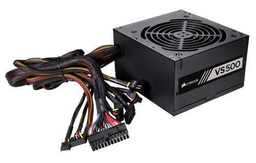 fuente de poder corsair vs500 ¿ 500 watt 80 plus cp-9020118-