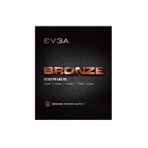 fuente de poder evga 600 b1, certificación 80+ bronze 600w