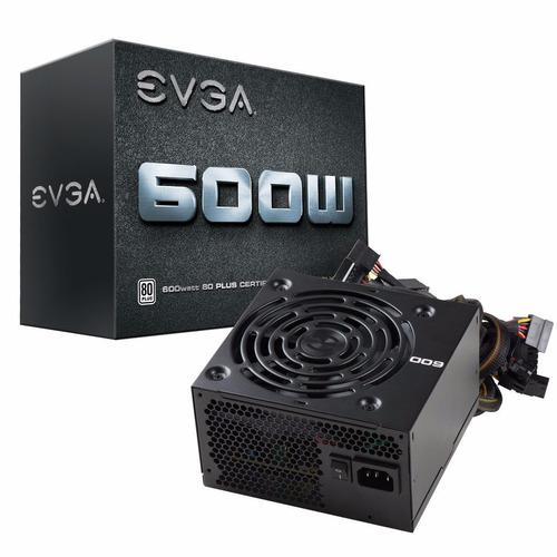 fuente de poder evga 600 w1, certificación 80+ white 600w