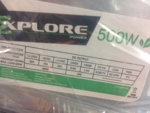 fuente de poder explorer sata 500w 20+4 pines
