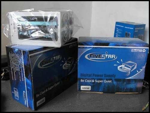 fuente de poder fivestar px 600 con empaque small ps-10-600w