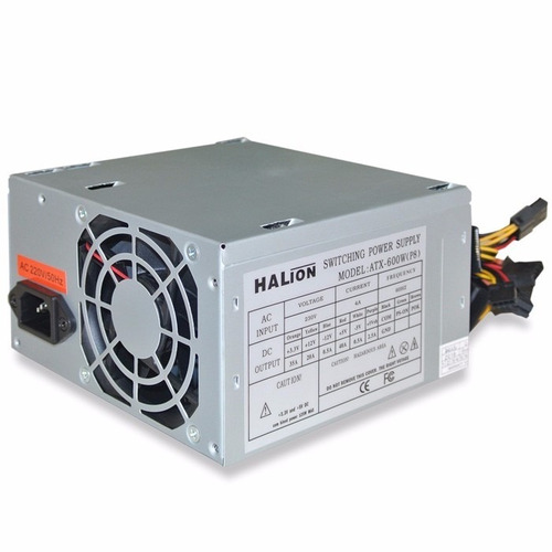 fuente de poder halion atx 600w con conector p8