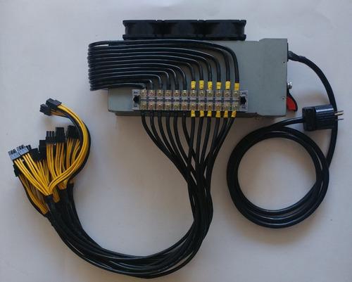 fuente de poder ibm 1800w 18 pci  antminer s9 l3 t9