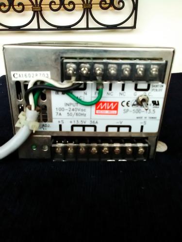 fuente de poder mean well sp 500 13.5 volt 35 amperios