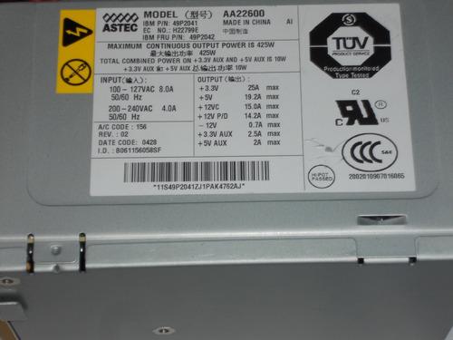fuente de poder para ibm x224 49p2041 49p2042 425w