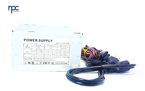 fuente de poder pc atx 600w 20 / 24 pines con conector sata