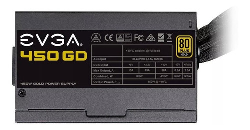 fuente de poder pc gamer 450w 80 plus gold