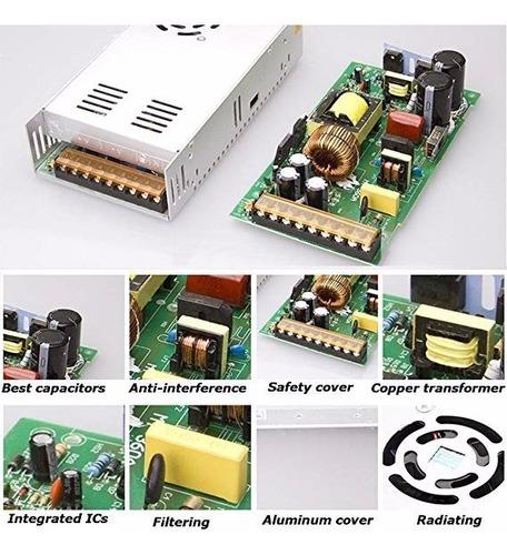 fuente de poder switching 12v 30a 360w led multifuncional