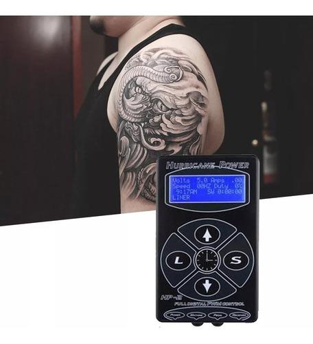 fuente de poder tattoo tatuar profesional hurricane hp-2 lcd