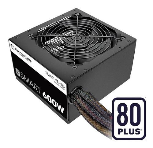 fuente de poder thermaltake de 600w reales 80 plus