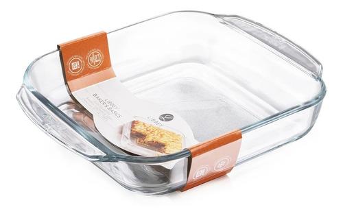 fuente de vidrio templado asadera horno freezer 20,8x20,8 cm