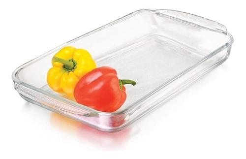 fuente de vidrio templado asadera horno freezer 30,8x20,6 cm