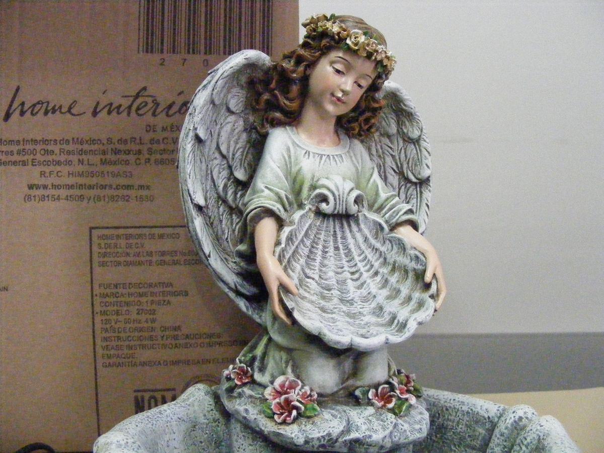 Fuente Decorativa Angel Home Interiors 1 700 00 En Mercado Libre