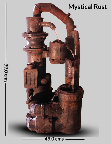 fuente decorativa poliresina mystical rust mg innovations