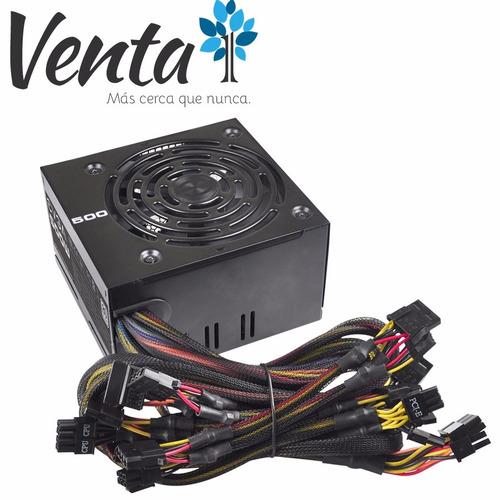 fuente evga 500w 80 plus cables mallados gtia 2 años venta1