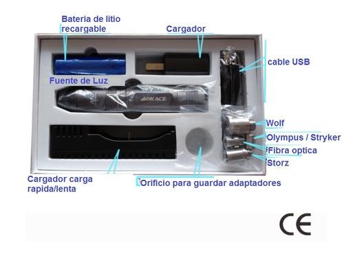 fuente luz led portatil endoscopio storz wolf acmi olympus