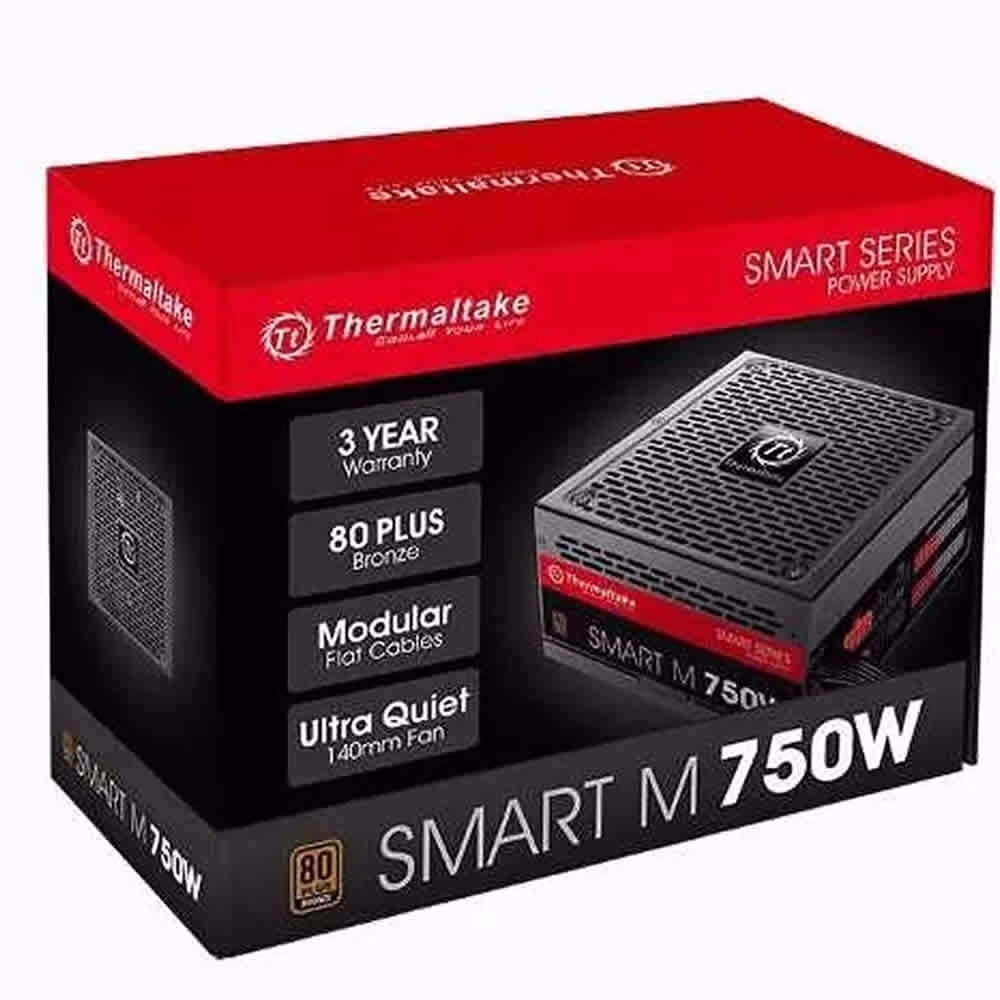 Fuente Modular Thermaltake Smart M 750 80 Plus Bronze 750w