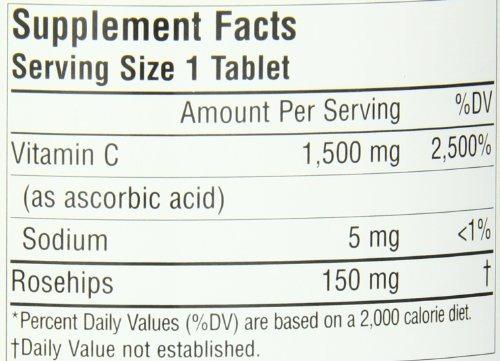 fuente naturals vitamina c1500 con rosa mosqueta 1500 mg tie