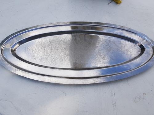 fuente oval 54 cm acero inoxidable