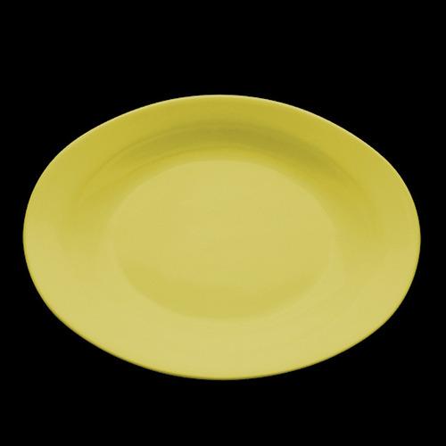 fuente oval olmos® honda amarilla línea aquarella