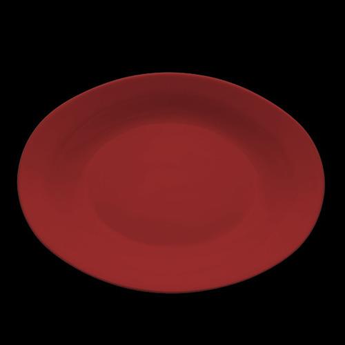 fuente oval olmos® honda rojo carmín línea aquarella