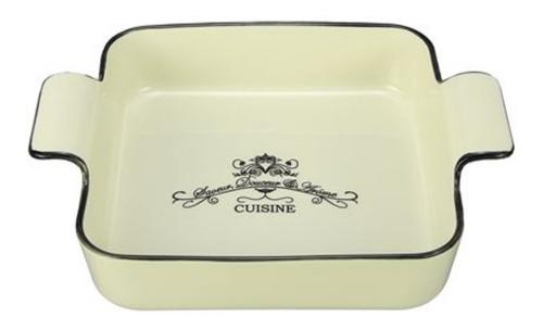 fuente p/ horno cuad ceramica cuisine c/ asas 20*19*5.8