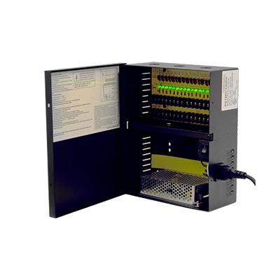 fuente para cctv, 12 vcd, 12 amp, 18 salidas.