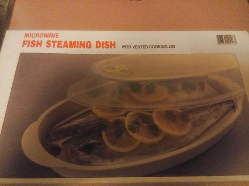 fuente para cocinar pescado en microondas