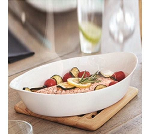 fuente para horno y mesa luminarc smart cuisine 32x20 cm
