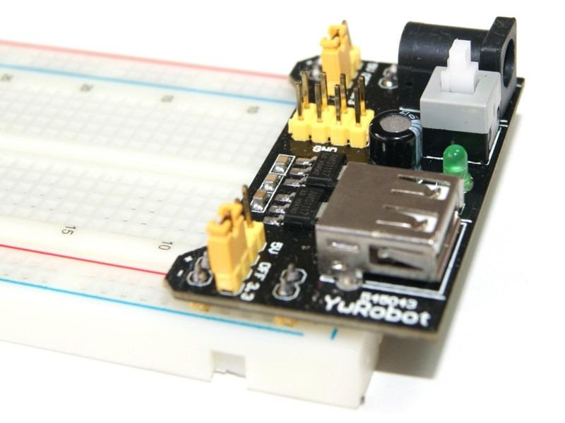 Fuente para protoboard ywrobot arduino pic avr