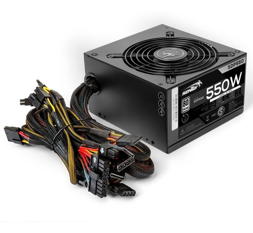 fuente pc gamer 550w reales 80 plus atx sdp550