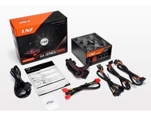 fuente pc gamer sentey lnz sx850-fs 850w real rail 46a led