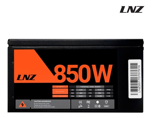 fuente pc gamer sentey lnz zx850-ls 850w red led modular pce